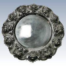 A salver portuguese sterling silver