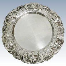 Portuguese sterling silver salver
