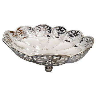 A english sterling silver basket