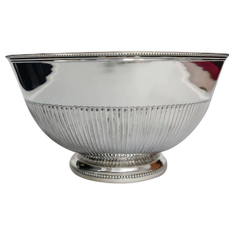 A Portuguese sterling silver bowl