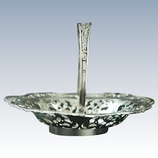 A portuguese sterling solid silver basket