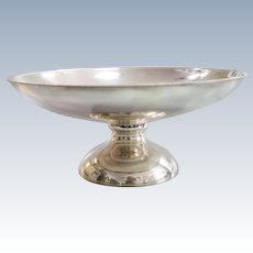 A Portuguese sterling solid silver fruit bowl