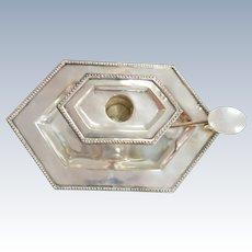 A portuguese silver chamberstick