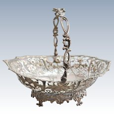 A English Sterling Solid Silver basket