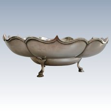 A portuguese sterling solid silver Scalloped bowl