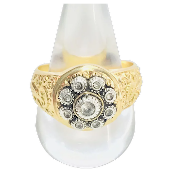 Portuguese 19.2k Gold  19 Century Diamonds Ring