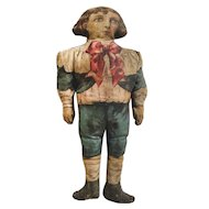 """""""Tiny Tim"""" Lithographed Cloth Doll ca. 1906"""