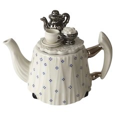 Victorian Tea Time Porcelain Teapot by Cardew Design-Made in England