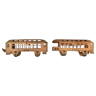 Cast Iron Pullman Train Cars