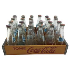 Miniature Coca-Cola Crate with 23 Mini Bottles of Fanta Soda