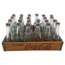 Miniature Coca-Cola Crate with 23 Mini Bottles of Fanta Soda