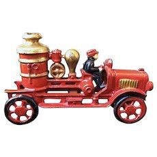 Cast Iron Fire Pumper Truck
