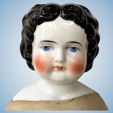 "Bawo & Dotter 22"" Brunette China Head Doll ca. 1880"