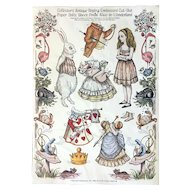 Alice in Wonderland Embossed Paper Dolls by Merrimack Publishing ca. 1980s