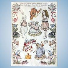 Alice in Wonderland Embossed Paper Dolls by Merrimack Publishing ca. 1980s