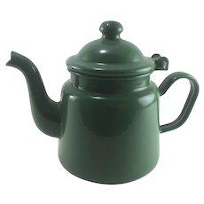 Vintage Enamelware Tiny Teapot