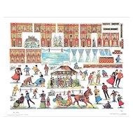 Danish Christmas Village – Vintage Paper Toy Theater