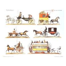 Køretøjer (Vehicles) - Vintage Danish Poster