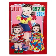 """Cutout Dressing Book"" Mid-century Paper Dolls from Japan"