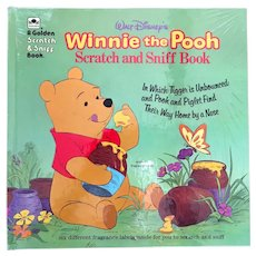 1974 Winnie-the-Pooh Scratch and Sniff Book by Golden Books – Never Been Opened