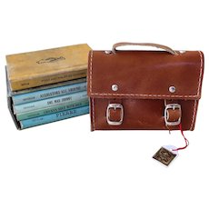 Doll's Leather Attaché Case/Book Bag - Made in Germany