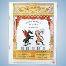 "Pollock's ""Saint George and the Dragon"" Paper Toy Theatre – First Ed. 1971 New in Packaging"