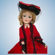 """1960s Madame Alexander 21"""" Godey Portrait Doll with Jacqueline Face"""