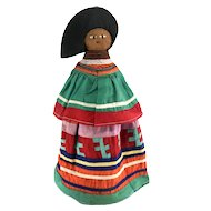 Seminole Palmetto Doll in Patchwork Dress ca. 1930s