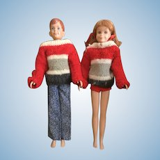 1963 Mattel Barbie's Friends Ricky and Skooter