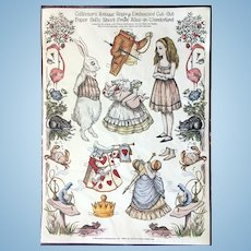 Alice in Wonderland Embossed Cut-Out Paper Dolls