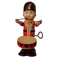 Line Mar Toys Tin Windup Mechanical Drumming Soldier