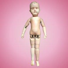 """1911 Schoenhut 19"""" Wooden Doll"""