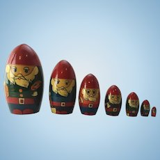 Authentic Russian Nesting Doll in Seven Dwarves Motif