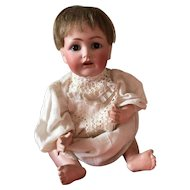 """Kestner 257 14.5"""" Character Baby Boy Bisque Head Composition Body"""