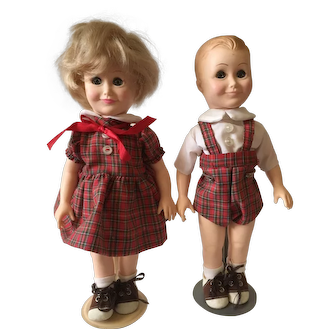 "The Bobbsey Twins 11"" Dolls with Wardrobe by Effanbee 1982"