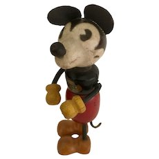 "Early 1930s Mickey Mouse 3½"" Wooden Toy"
