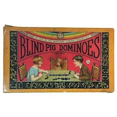 1920s Blind Pig Dominoes by The Embossing Company, Albany, N.Y.