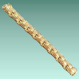 18k Yellow Gold, German Heavy Link Bracelet by Abel & Zimmerman