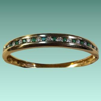 Bailey, Banks, & Biddle 18k Yellow Gold, Emerald, & Diamond Bracelet