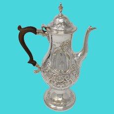 Sterling Silver Ann & Peter Bateman Coffee Pot, London, 1792-93
