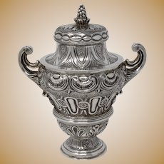 Tane, Sterling Silver Covered Urn, Mexico, 20th Century