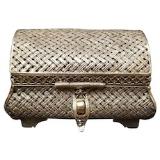 Imperial Russian Gilt Woven Small Box, Moscow 1867, 88 zolotniks, Gorianov