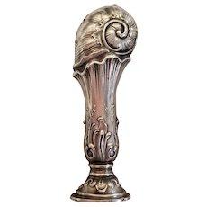 Art Nouveau German, 800 Silver Wax Seal in Box, c.1890
