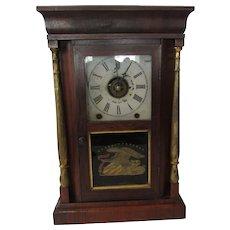 Rare Antique 1850's Ansonia Mantel Clock, Gilt Column Model, HTF, 8-Day, Working