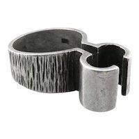SUPERB Signed 1971 Sheffield England Handmade Sculptural Modernist Sterling Silver RING