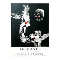 ORIGINAL 1961 Jun DOBASHI Art Exhibition Lithograph 1961 Desjobert Paris
