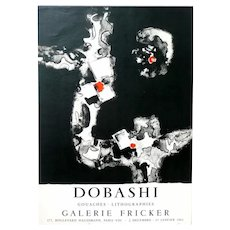 ORIGINAL 1961 Jun DOBASHI Art Exhibition Lithograph 1961 Desjobert Paris