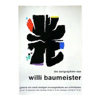 Original 1963 Willi BAUMEISTER Exhibition Serigraph Domberger Siebdruck