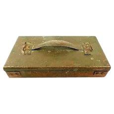 RARE Antique 1900 - 1920 Arts & Crafts Handmade Hammered Copper Lidded BOX