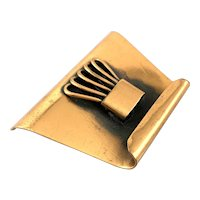 RARE One of a Kind 1940s 50s Ben Lorenz NYC Handmade Copper Abstract Modernist Design Brooch PIN